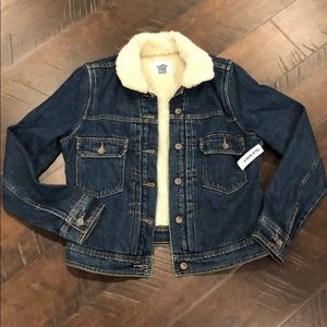 ❤️NWT❤️ Old Navy Sherpa Lined Denim Jacket